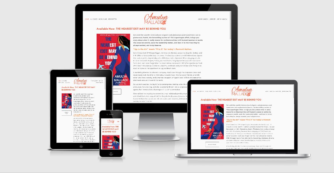 Amulya Mallada web design