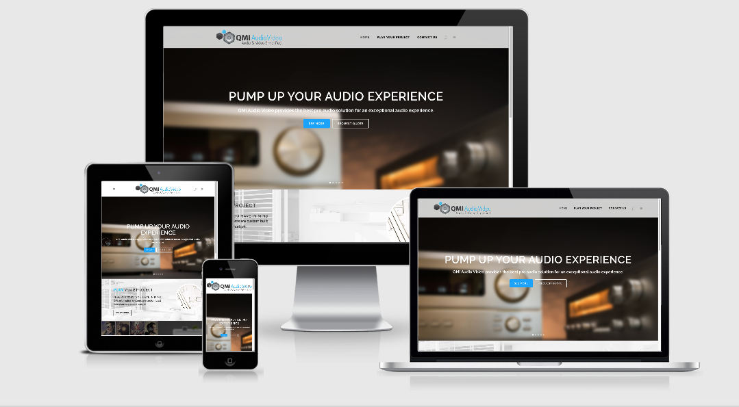 QMi Audio Video web design